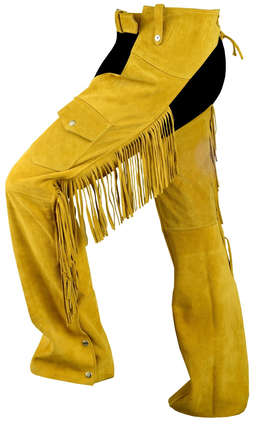 Fringed Western Leather Indian Chaps Pants Western
