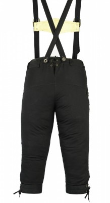 Knee length bavarian Jeans Lederhosen and Suspenders for oktoberfest, colour:Black – Bild 2