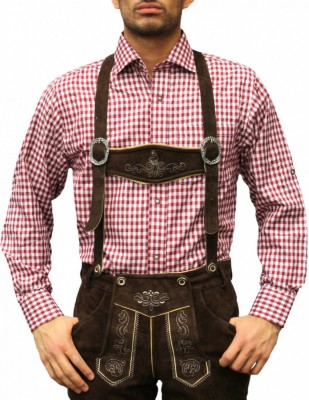 Traditional Bavarian Shirt For Lederhosen/Oktoberfest, Checkered – Bild 22