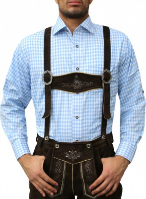 Traditional Bavarian Shirt For Lederhosen/Oktoberfest, Checkered – Bild 16