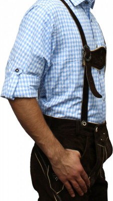 Traditional Bavarian Shirt For Lederhosen/Oktoberfest, Checkered – Bild 18