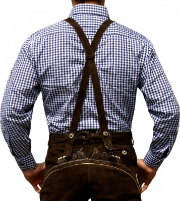 Traditional Bavarian Shirt For Lederhosen/Oktoberfest, Checkered – Bild 6