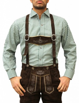 Traditional Bavarian Shirt For Lederhosen/Oktoberfest, Checkered – Bild 8