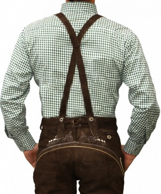 Traditional Bavarian Shirt For Lederhosen/Oktoberfest, Checkered – Bild 9