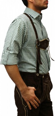 Traditional Bavarian Shirt For Lederhosen/Oktoberfest, Checkered – Bild 10