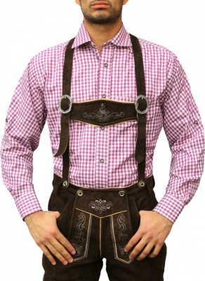 Traditional Bavarian Shirt For Lederhosen/Oktoberfest, Checkered – Bild 15