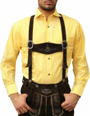 Traditional Bavarian Shirt For Lederhosen/Oktoberfest, Checkered – Bild 11