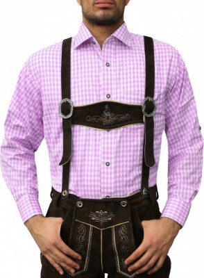 Traditional Bavarian Shirt For Lederhosen/Oktoberfest, Checkered – Bild 19