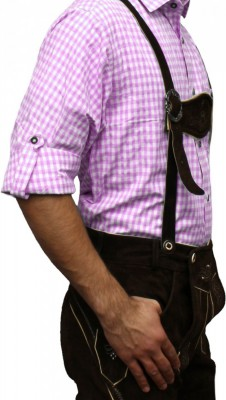 Traditional Bavarian Shirt For Lederhosen/Oktoberfest, Checkered – Bild 21