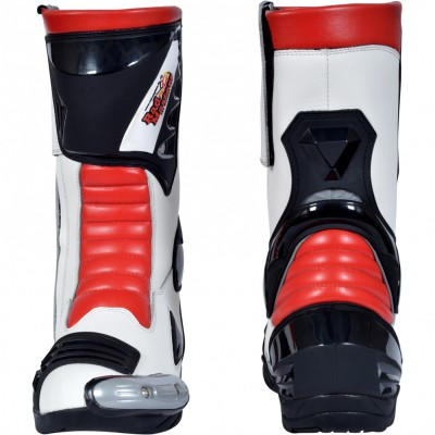 Motorbike Racing Sport Boots colour white/black/yellow – image 3