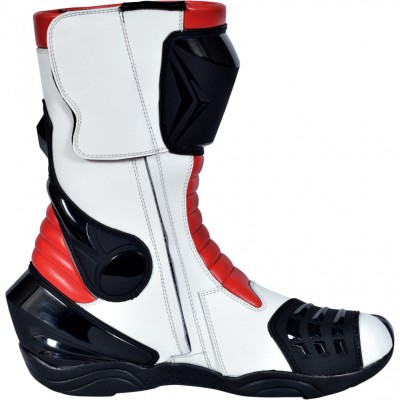 Motorbike Racing Sport Boots colour white/black/yellow – image 1