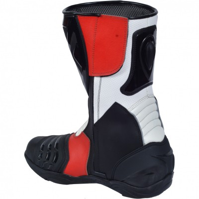 Motorbike Racing Sport Boots colour white/black/yellow – image 4