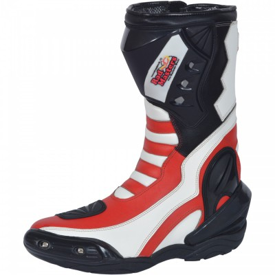 Motorbike Racing Sport Boots colour white/black/yellow – image 2