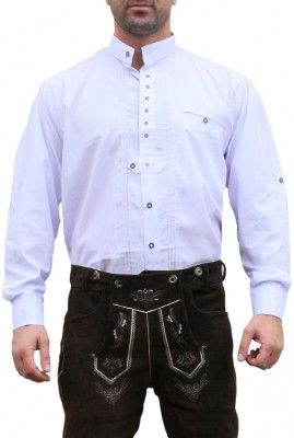 Traditional Bavarian Shirt For Lederhosen,Color: White – Bild 1