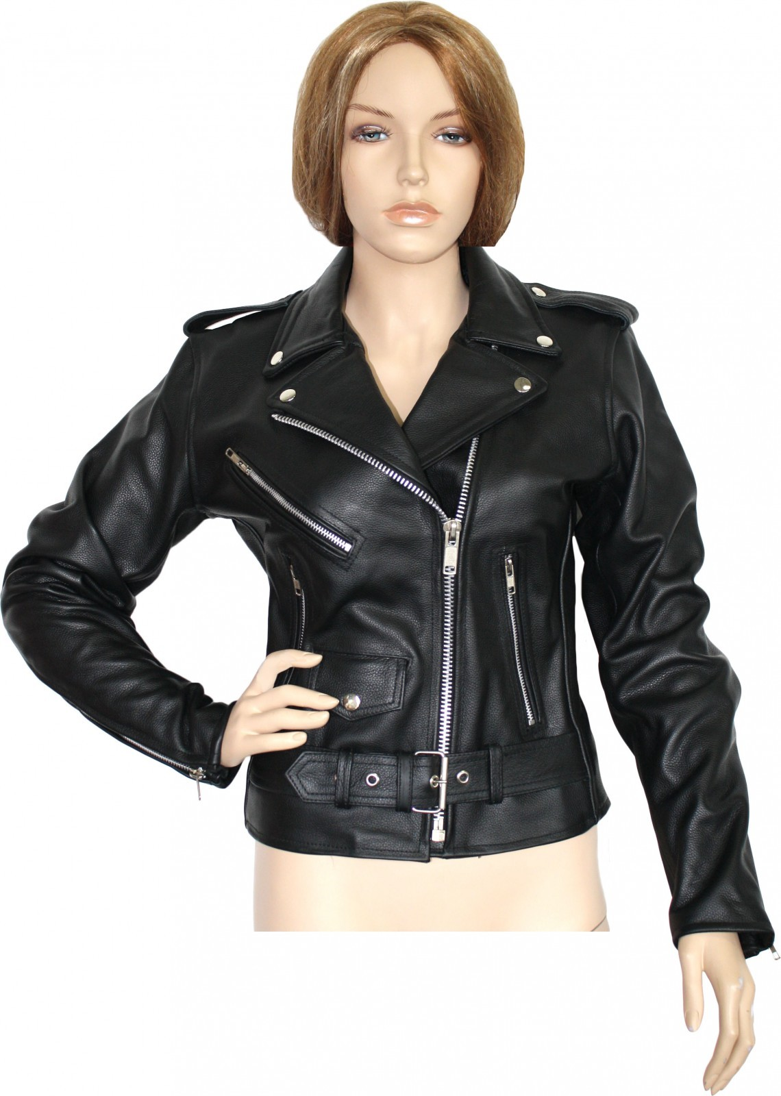 damen lederjacke motorradjacke rockabilly rockerjacke. Black Bedroom Furniture Sets. Home Design Ideas