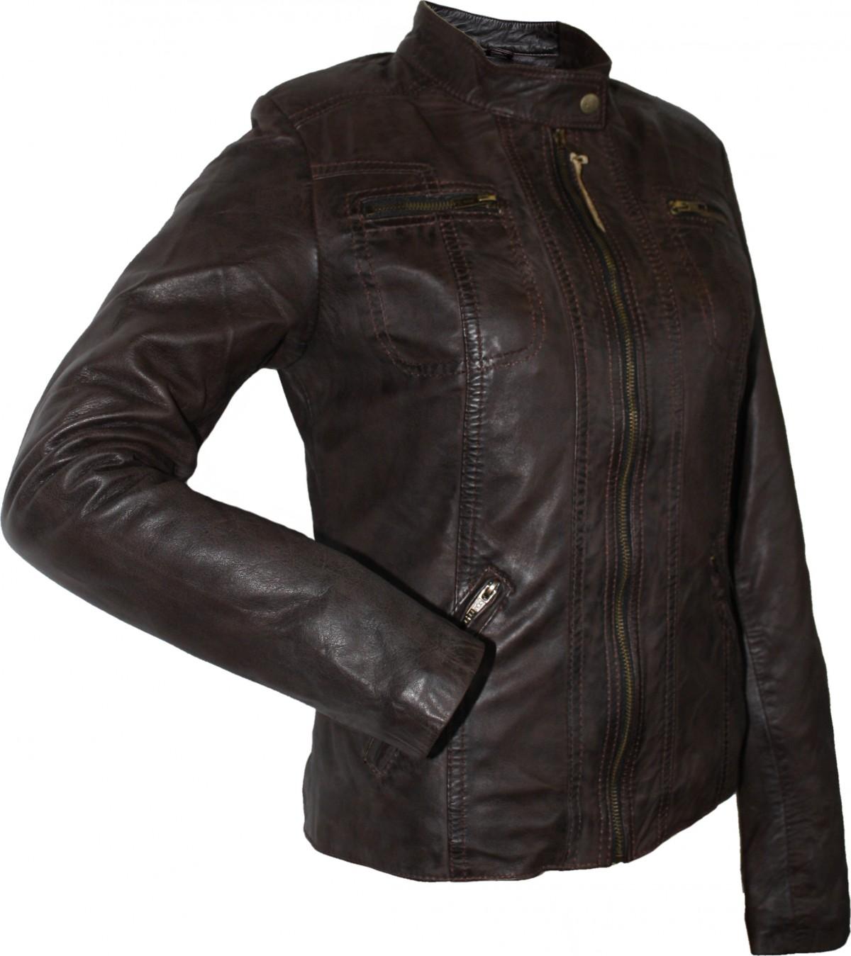 ladies leather jacket fashion sheepskin nappaleather