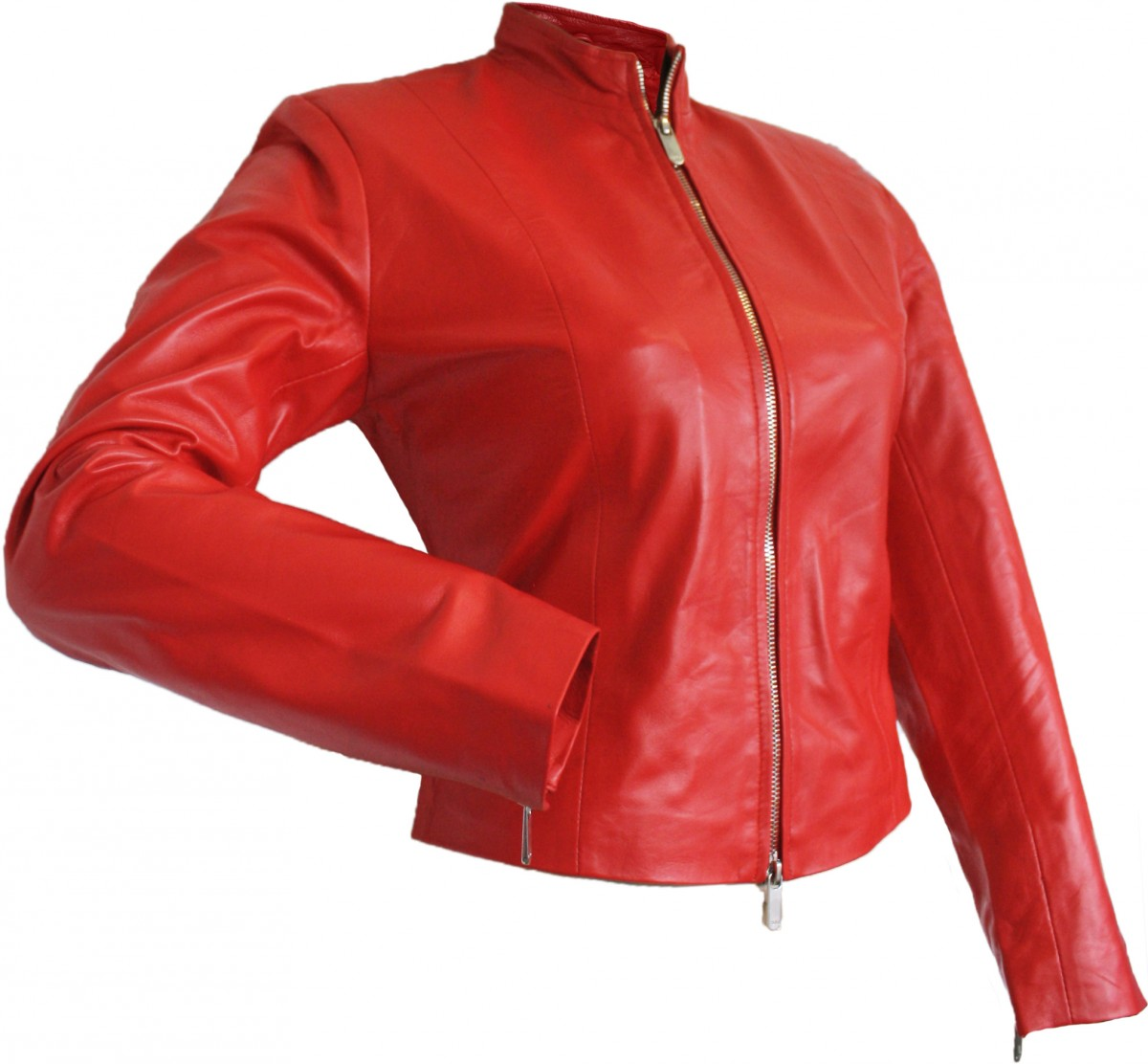 ladies leather jacket fashion lamb nappa leather color red. Black Bedroom Furniture Sets. Home Design Ideas