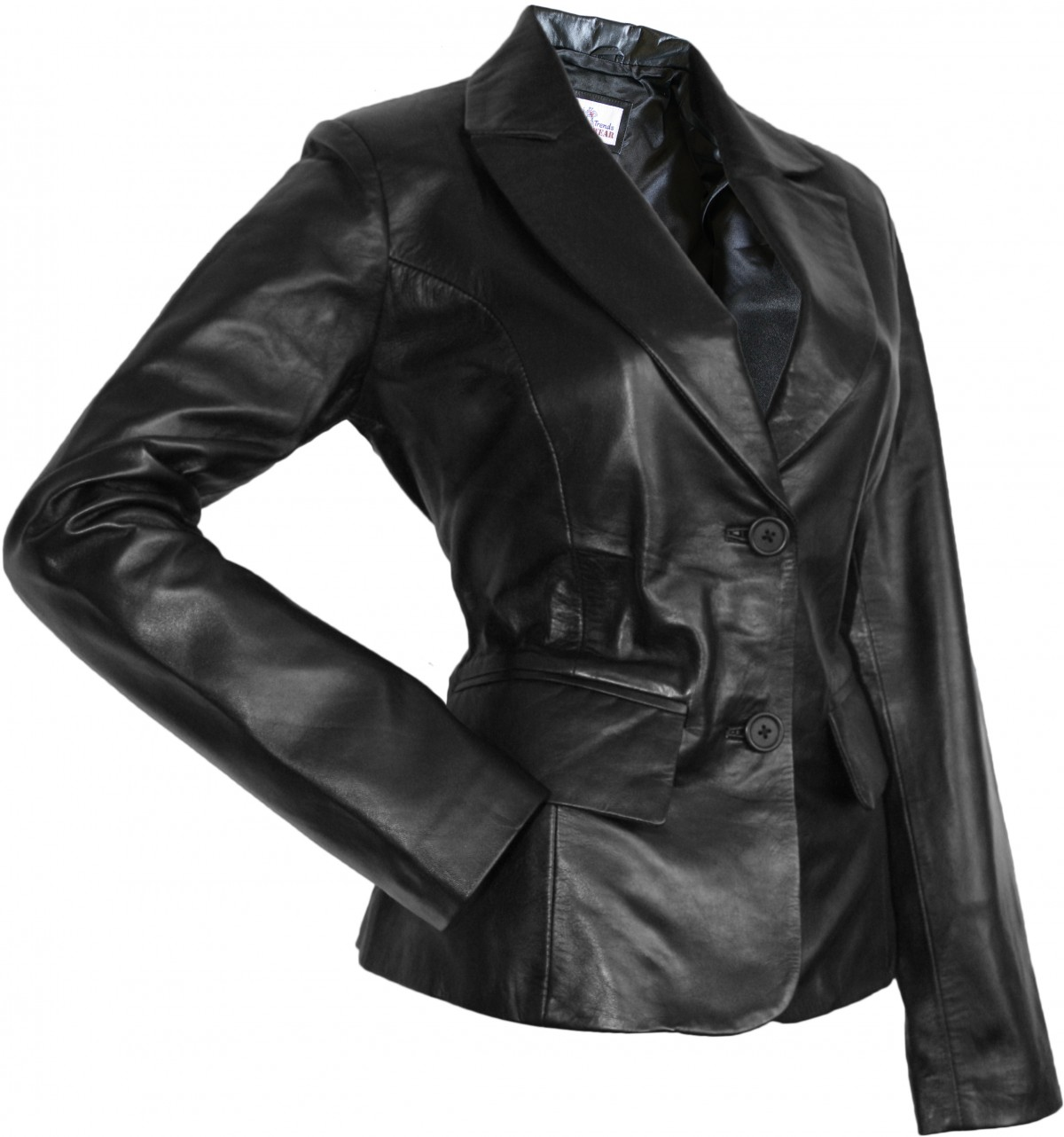 damen lederblazer lederjacke blazer echtleder jacke aus lammnappa leder schwarz. Black Bedroom Furniture Sets. Home Design Ideas