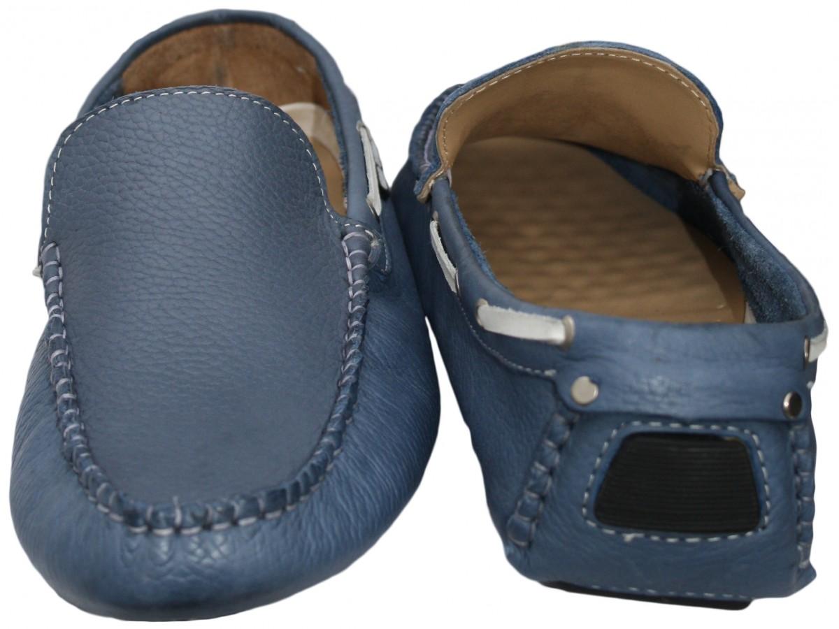 German Blue Driving Shoes